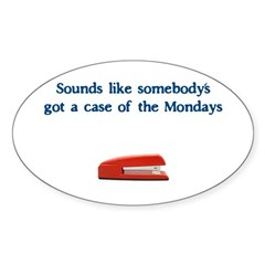 Case of the Monday's Oval Decal