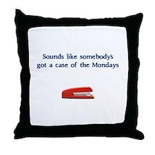 Case of the Monday's Throw Pillow