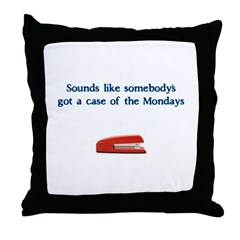 Case of the Monday's Throw Pillow