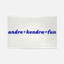 andre+kendra=fun Rectangle Magnet