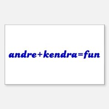 andre+kendra=fun Rectangle Decal