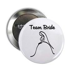 "Team Bride Weding Dress 2.25"" Button"