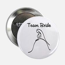 """Team Bride Weding Dress 2.25"""" Button"""
