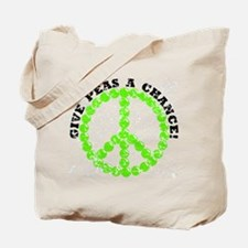 Peas a Chance (Distressed) Tote Bag