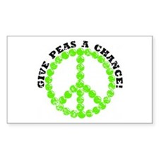 Peas a Chance (Distressed) Rectangle Decal