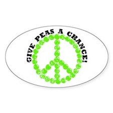 Peas a Chance (Distressed) Oval Decal