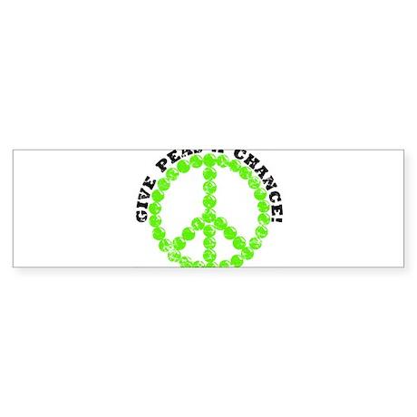 Peas a Chance (Distressed) Bumper Sticker