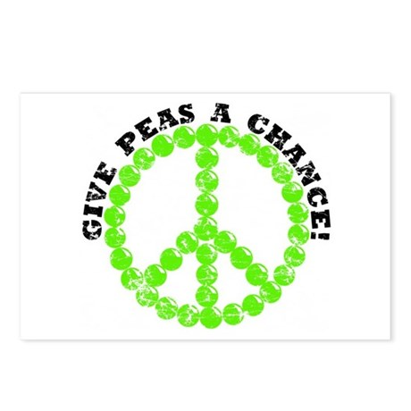 Peas a Chance (Distressed) Postcards (Package of 8