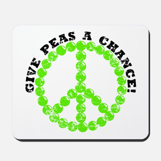 Peas a Chance (Distressed) Mousepad