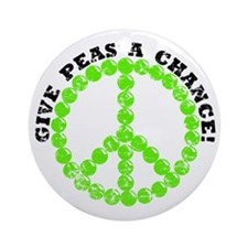 Peas a Chance (Distressed) Ornament (Round)