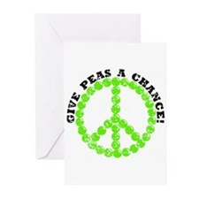 Peas a Chance (Distressed) Greeting Cards (Pk of 1