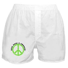 Peas a Chance (Distressed) Boxer Shorts