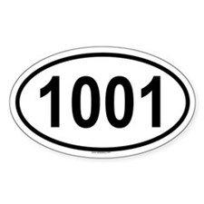 1001 Oval Decal