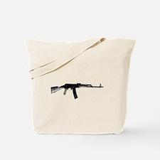 Rifle On A Shirt Tote Bag
