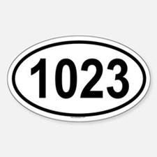 1023 Oval Decal