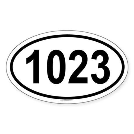 1023 Oval Sticker