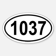 1037 Oval Decal