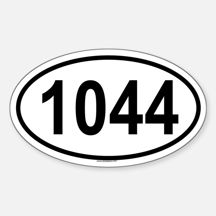 1044 Oval Decal