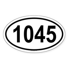 1045 Oval Decal