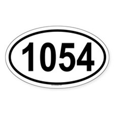 1054 Oval Decal