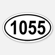 1055 Oval Decal