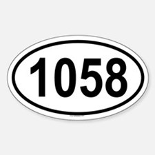 1058 Oval Decal