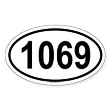 1069 Oval Decal