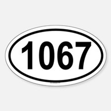 1067 Oval Decal