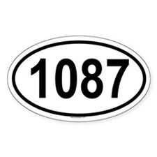 1087 Oval Decal