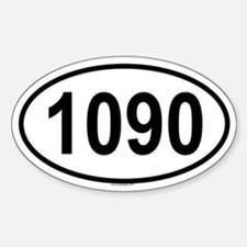 1090 Oval Decal