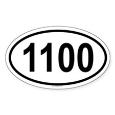 1100 Oval Decal
