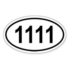 1111 Oval Decal