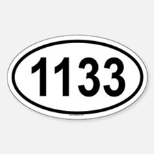 1133 Oval Decal