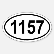 1157 Oval Decal