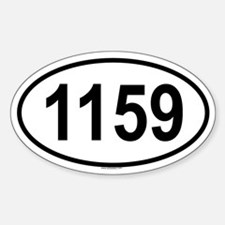 1159 Oval Decal