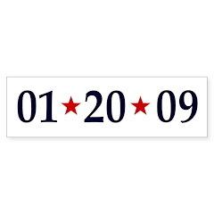 1-20-09 Obama Inauguration Day Bumper Bumper Sticker