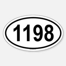 1198 Oval Decal