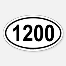 1200 Oval Decal