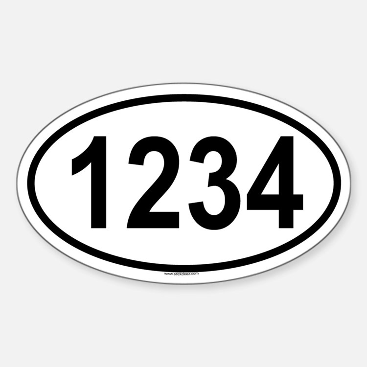 1234 Oval Decal