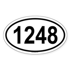 1248 Oval Decal