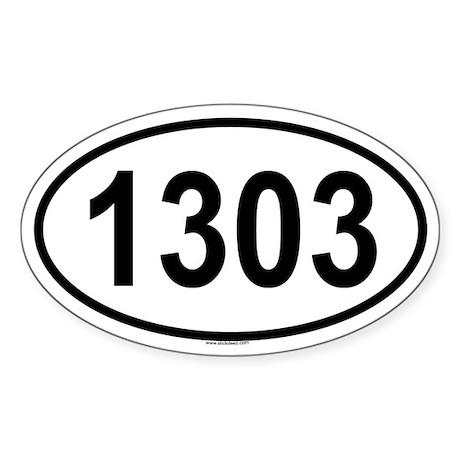 1303 Oval Sticker