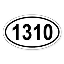 1310 Oval Decal