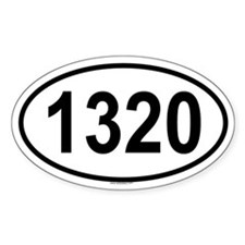 1320 Oval Decal