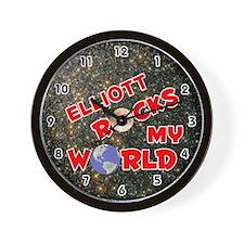 Elliott Rocks My World (Red) Wall Clock