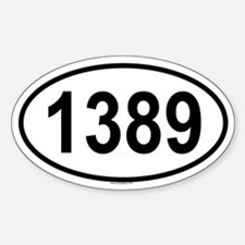 1389 Oval Decal