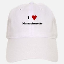 I Love Massachusetts Baseball Baseball Cap