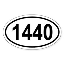 1440 Oval Decal
