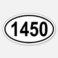 1450 Oval Decal