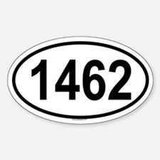 1462 Oval Decal