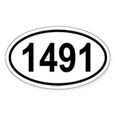 1491 Oval Decal